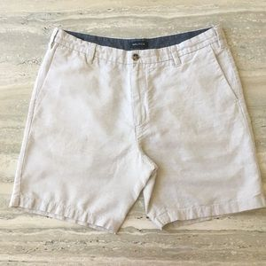 Nautica Men's Linen & Cotton Natural Shorts